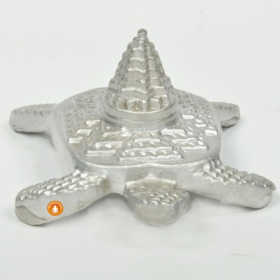 Parad Kachap Shri Yantra/Kachap Shree Yantra (Mercury Mix) - (Energized -  मंत्र द्वारा पवित्र/शुद्ध किया हुआ)